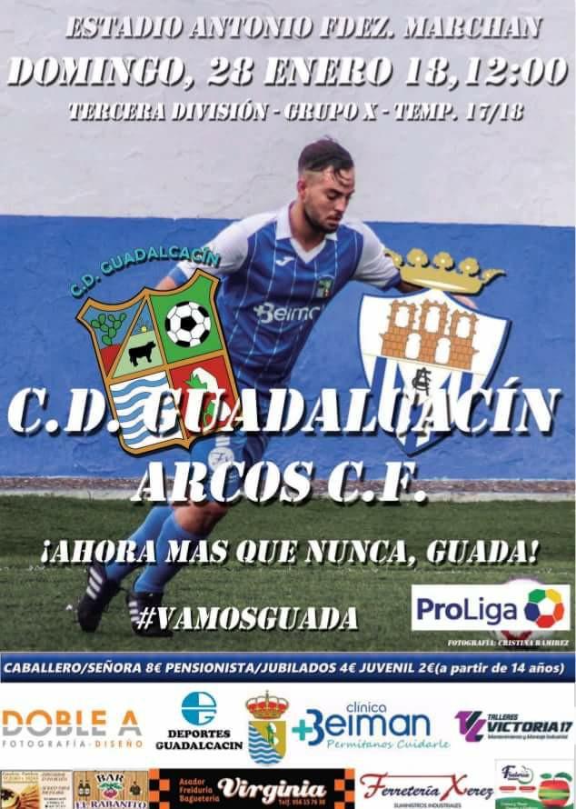Jornada 22 de Tercera División Grupo X. Arcos CF vs UD Los Barrios