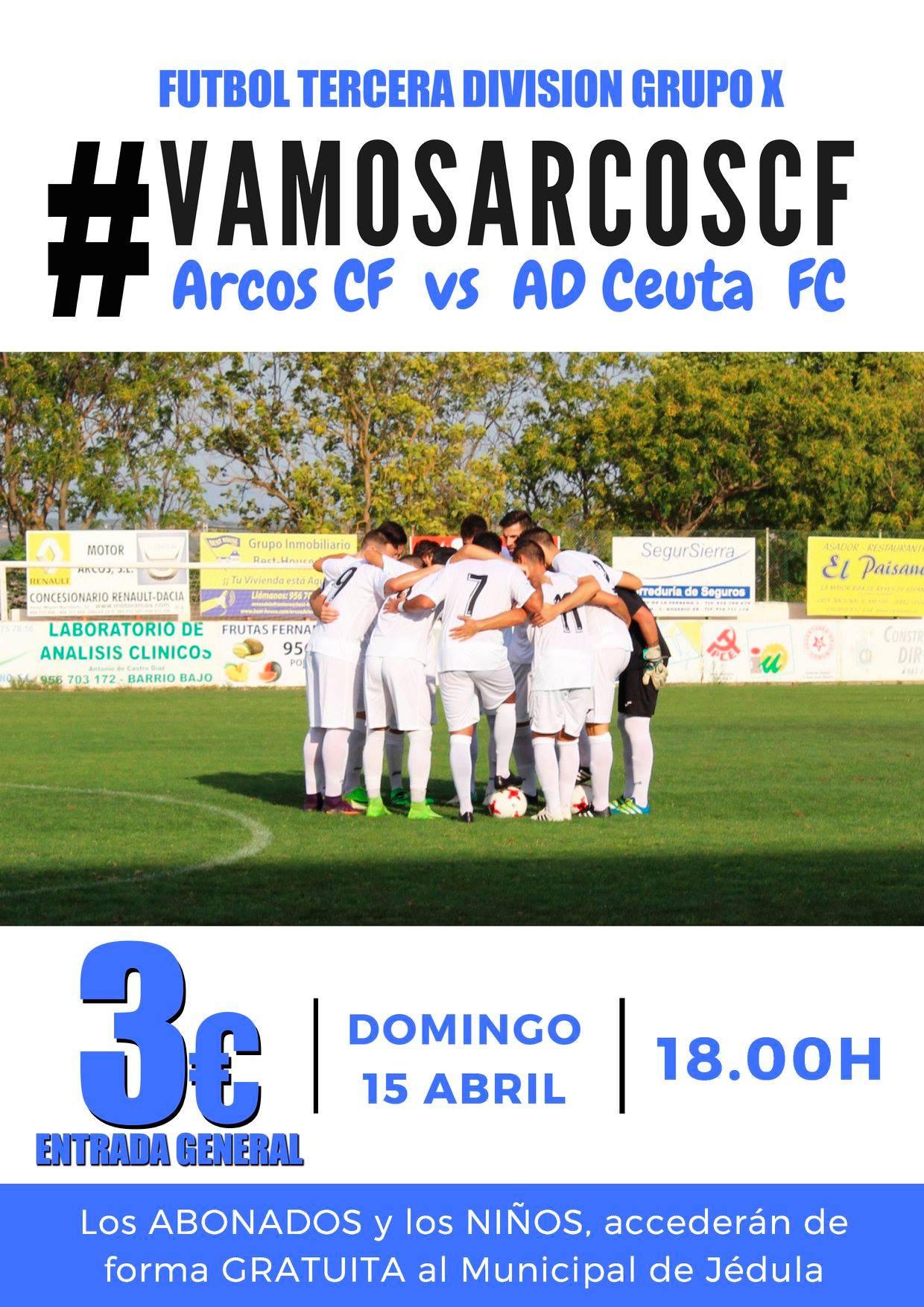 Jornada 34 de Tercera División Grupo X. Arcos CF vs AD Ceuta FC