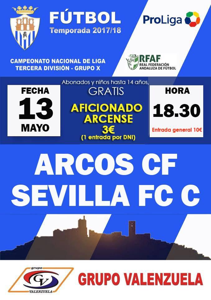 Jornada 38 de Tercera División Grupo X. Arcos CF vs Sevilla FC C