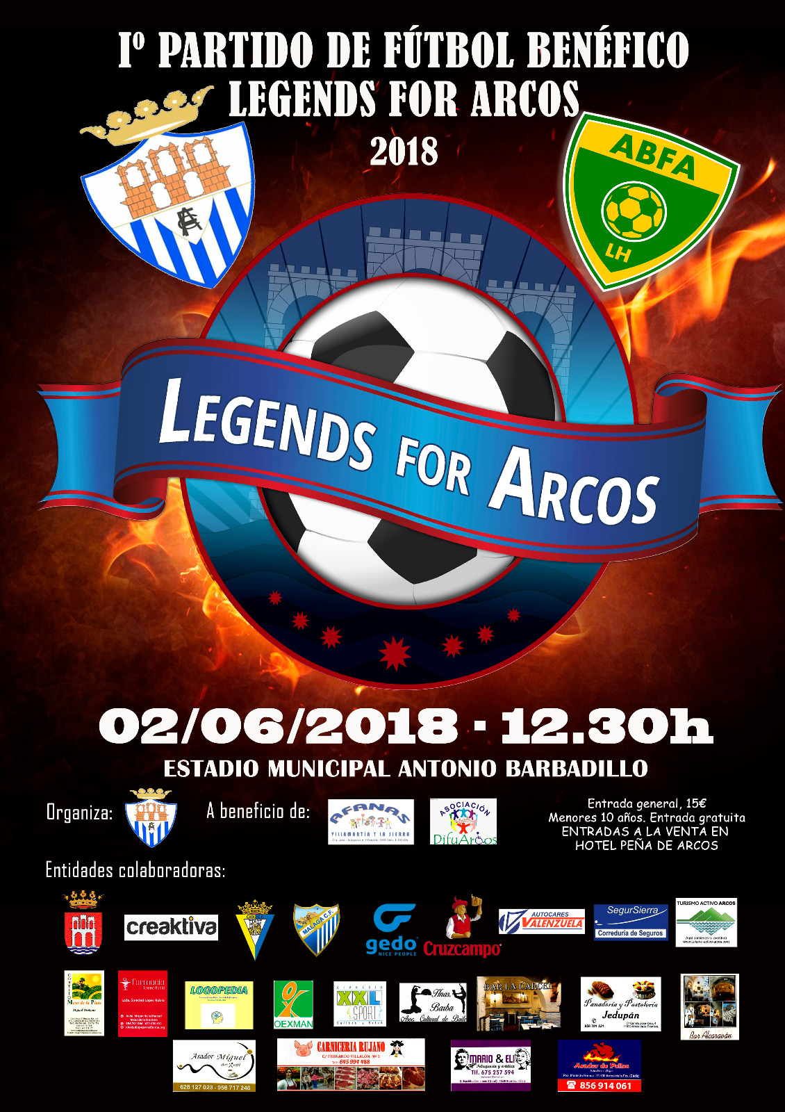 PARTIDO BENÉFICO LEGENDS FOR ARCOS 2018