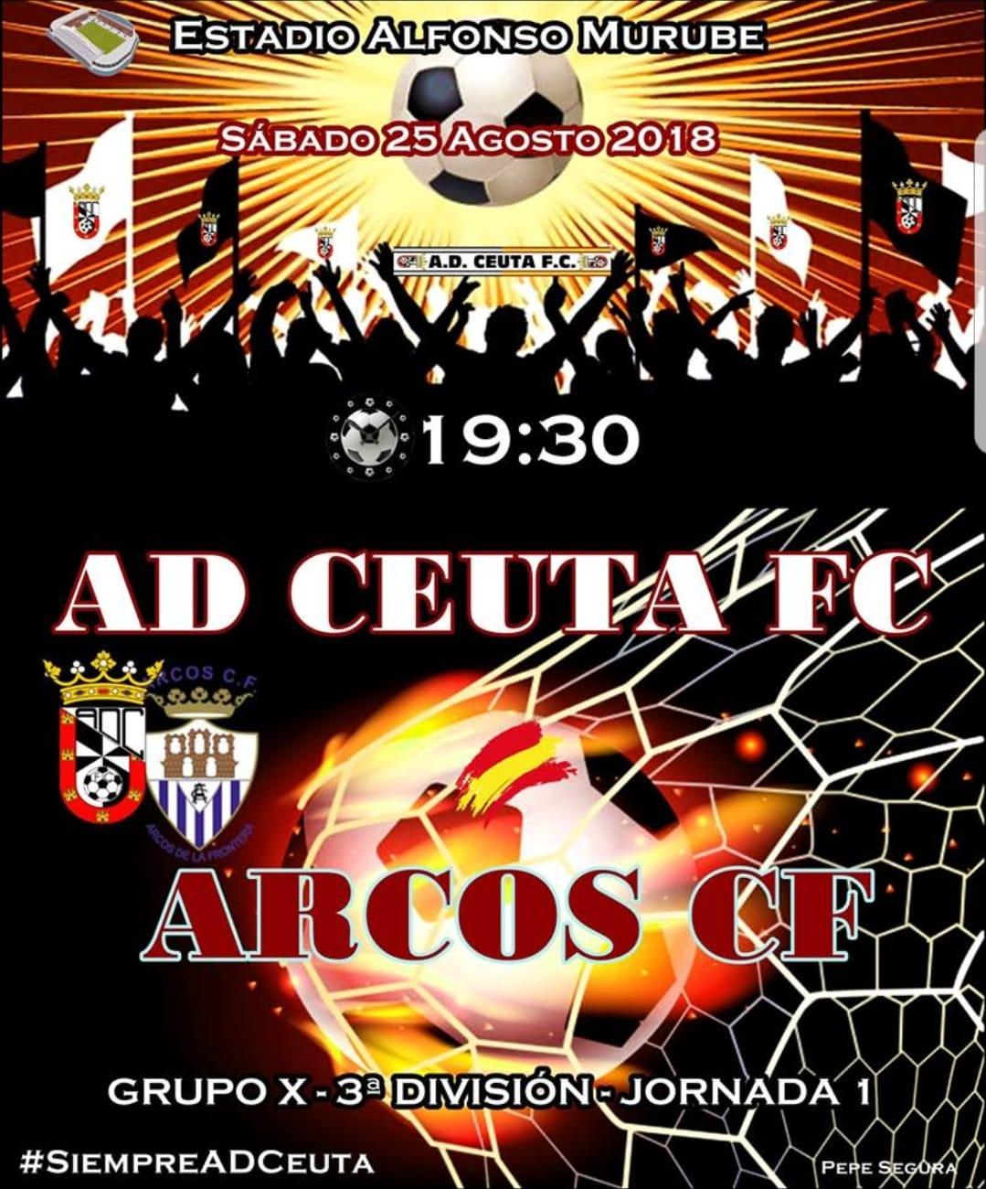Tercera División Grupo X: 1ª Jornada de Liga AD Ceuta FC vs Arcos CF